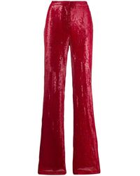 BROGNANO Sequinned Pants - Red