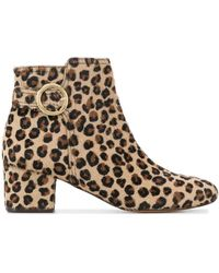 Tila March Leopard print ankle boots - Marrón