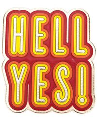 Anya Hindmarch - 'hell Yes' Sticker - Lyst