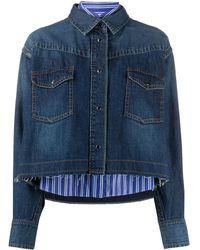 Sacai デニム シャツジャケット - ブルー
