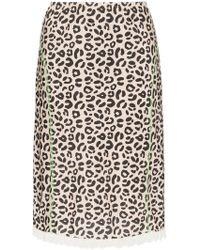 Sandy Liang - Leopard Print Slip Skirt - Lyst