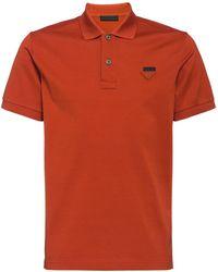 Prada - Poloshirt mit Logo - Lyst