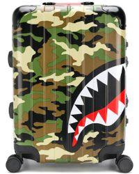 Sprayground Shark Printed Travel Bag - Brown