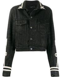 Amiri Cord-embellished Denim Jacket - Black
