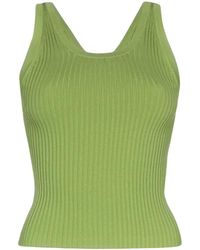 Matériel Ribbed-knit Tank Top - Green