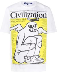 Junya Watanabe グラフィック Tシャツ - ホワイト