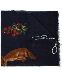 Oscar de la Renta - Flora Fauna Printed Scarf - Lyst