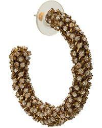 Oscar de la Renta - Crystal Hoop Earrings - Lyst