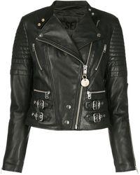 DIESEL キルティング ライダースジャケット - ブラック