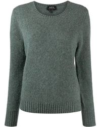 A.P.C. Knitted Wool Jumper - Blue