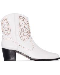Sophia Webster Ковбойские Ботинки Shelby 50 - Белый