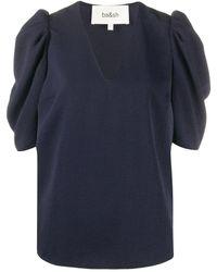 Ba&sh Puff Sleeve Top - Blue
