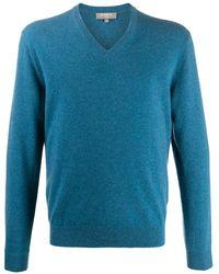 N.Peal Cashmere Джемпер The Burlington С V-образным Вырезом - Синий