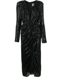 In the mood for love スパンコール シャーリング ドレス - ブラック