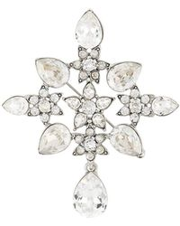 Oscar de la Renta Multi-gem Brooch - White