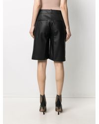 Loulou Studio Kiltan Leather Shorts - Black