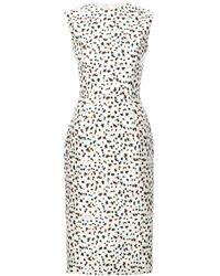 Jason Wu Collection Floral Print Sleeveless Dress - White