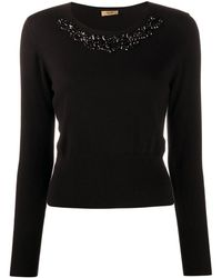 Liu Jo Bead Detail Knitted Jumper - Black