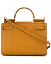 Dolce & Gabbana Small Sicily Leather Satchel - Multicolour