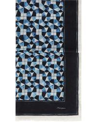 Dolce & Gabbana Легкий Платок С Принтом Majolica - Синий