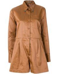 Bottega Veneta Work Wear Playsuit - Brown