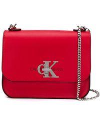 Calvin Klein ロゴ ショルダーバッグ - レッド