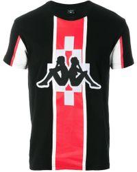 Marcelo Burlon Kappa-bedrukt T-shirt - Zwart