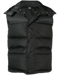 Gucci Bodywarmer Met Logodessin En Afritsbare Capuchon - Zwart