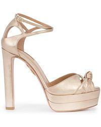 Aquazzura - Harlow Chunky Heel Court Shoes - Lyst