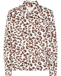 Reception Club Leopard-print Shirt Jacket - Multicolor