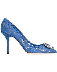 Dolce & Gabbana Bellucci パンプス - ブルー