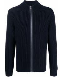 Filippa K Asher Ribbed-knit Zip Cardigan - Blue