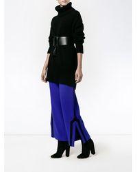 OSMAN Hose mit seitlichen Schlitzen - Blau