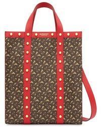 Burberry Sac cabas à motif monogrammé - Rouge
