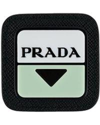 Prada Broche Met Logo - Zwart