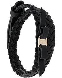 Ferragamo - Double-wrap Vara Bow Bracelet - Lyst