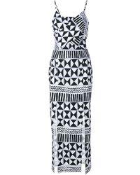 Tata Naka Rebecca Geometric Print Cut-out Dress - マルチカラー