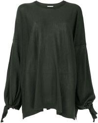P.A.R.O.S.H. - Tie Sleeve Sweatshirt - Lyst