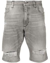 Dolce & Gabbana - Pantalones vaqueros cortos con efecto envejecido - Lyst