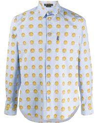 Versace Camicia con stampa - Blu