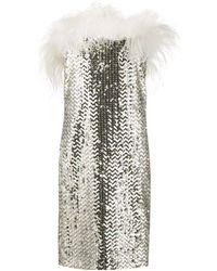 Saint Laurent Платье Мини С Пайетками - Многоцветный
