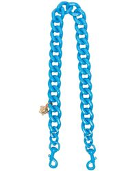 Versace Medusa Head Bag Chain - Blue