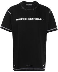United Standard ロゴ Tシャツ - ブラック