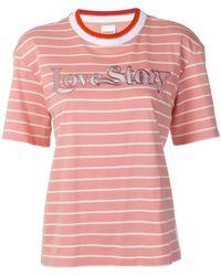Pinko - Striped T-shirt - Lyst