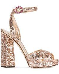 Dolce & Gabbana - スパンコールサンダル - Lyst