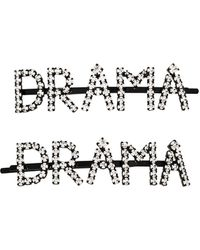 Ashley Williams Pack Of Two Drama Crystal Hairpins - Metallic