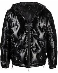 Emporio Armani キルティング ダウンジャケット - ブラック