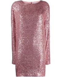 In the mood for love Alexandra Sequin Shift Dress - Multicolor