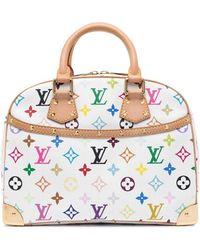 Louis Vuitton 2005 プレオウンド トゥルーヴィル モノグラム ハンドバッグ - ホワイト