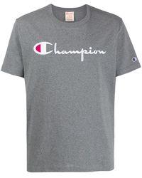 Champion ロゴ Tシャツ - グレー